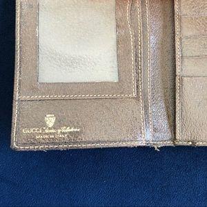 Gucci Bags - Brown large vintage GUCCI logo print wallet